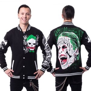 画像1: 【Mens】JOKER VARSITY JACKET【heartless × /Suicide Squad】
