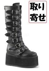 [取り寄せ]DAMNED-318/Black/厚底ブーツ【DEMONIA】