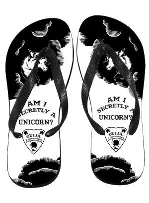 画像1: Am I Secretly A Unicorn Ouija/ビーチサンダル【DSC】