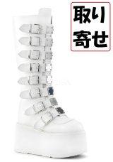 [取り寄せ]DAMNED-318/white/厚底ブーツ【DEMONIA】