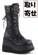 [取り寄せ]SHAKER-70/ウェッジソール厚底ブーツ【DEMONIA】