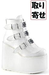 [取り寄せ]SWING-105/White/厚底ブーツ【DEMONIA】