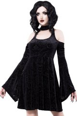 Vela Burnout Velvet Dress【KILL STAR】