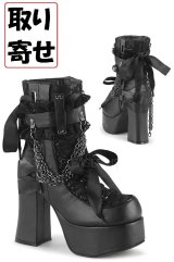 [取り寄せ]CHARADE-110/ブラック/厚底ブーツ【DEMONIA】