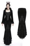 【KW134】Gorgeous mermaid lacey velvet tight maxi skirt / スカート【DARK IN LOVE】