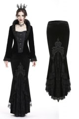 【KW134】Gorgeous mermaid lacey velvet tight maxi skirt / スカート【DARK IN LOVE】
