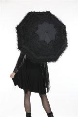 【AUM003】Lolita lace / 折りたたみ傘【DARK IN LOVE】